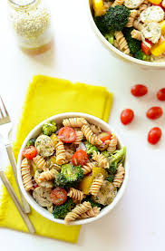 Pasta Salad Recipes With Italian Dressing Quinoa Pasta Salad With Chicken Sausage Fit Foodie Finds