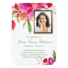 funeral invitations u0026 announcements zazzle