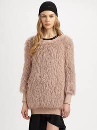 fur sweater lyst philosophy faux fur sweater in