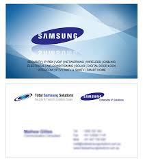 Networking Business Card Examples Total Samsung Solutions Business Cards Design Sh Designs