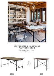 restoration hardware flatiron table restoration hardware flatiron desk copycatchic