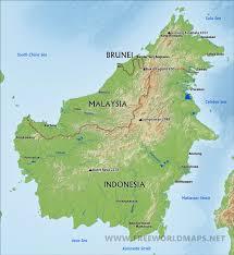 Brunei Map Borneo Map