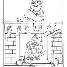 christmas stocking coloring pages empty stockings by the chimney coloring pages hellokids com
