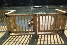 double wood deck gate in mchenry county built by rock solid