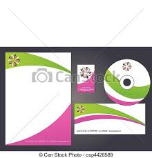 eps vectors of letterhead template design 2 corporate identity