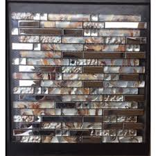 Mosaic Tile For Backsplash by Diamond Glass Tiles For Kitchen Backsplash Silver Stainless Steel
