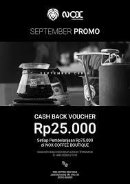 Nox Coffee ada yang asyik biar september makin nox coffee boutique