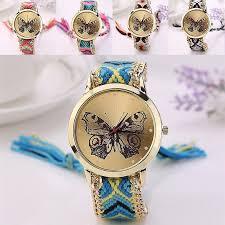 girls bracelet watches images Fashion ladies butterfly design bracelet watch women girls chain jpg
