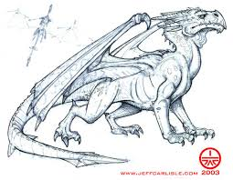 quick sketch of a dragon the art of jeff carlisle