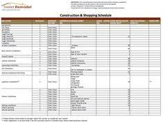 Construction Punch List Template Excel Punch List Template For Home Remodels In Excel And Pdf Format