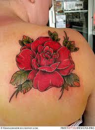 big rose tattoo on a u0027s shoulder tats pinterest rose