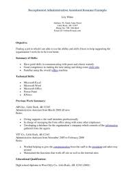 Example Of Resume Objective by Marvellous Design Receptionist Resume Objective 16 Spa Examples We
