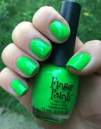 11 finger paints silkscreen green nail polish swatches