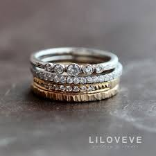 stackable diamond rings 19 gorgeous stacked wedding rings