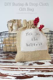 cloth gift bags diy burlap drop cloth gift bag so much better with age