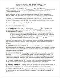 retainer agreement template business template u0027s