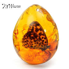 amber stone necklace images Kiwarm beautiful amber butterfly insects stone pendant necklace 5 jpeg