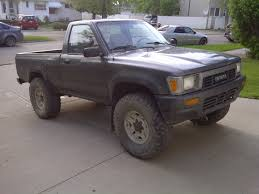 toyota pick up 1989 toyota pickup flat black bumper and grille work is a nice