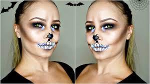 halloween makeup tutorial skeleton easy skull makeup tutorial halloween makeup using glitter youtube