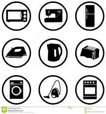home appliance icons set royalty free stock image image 1463536
