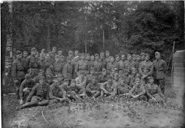 a large photo of soldiers and officers of the army