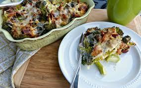 a squared bacon u0026 broccoli breakfast strata