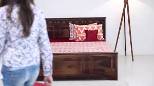 Teak Wood Furniture Online In India Beds Swirl Bed Online In India Wooden Street Youtube