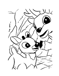 rudolph the red nosed reindeer coloring page free printable