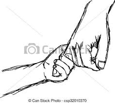 stock illustration of puppet pulling for a hand of the