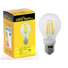 white light bulbs not yellow leditburn e27 led filament bulb 6 5 watt equals 60w a 720lm warm