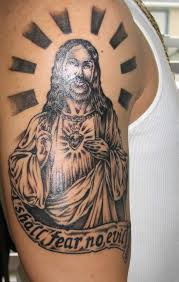 tattoos gallery shoulder and arm jesus designs