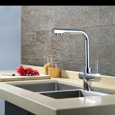 Bathroom Water Outlet Brass Two Handles Kitchen Sink Water Filter Faucet With Drinking