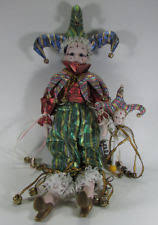 mardi gras doll circus clown collection porcelain doll in dolls ebay