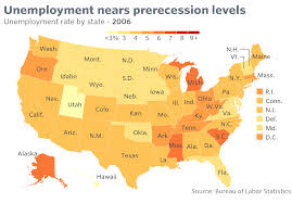 Alaska On Map Most States Still Have Jobless Rates Above Prerecession Levels