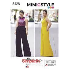 jumpsuit stitching pattern pattern 8426 misses plus size jumpsuit by mimi g simplicity