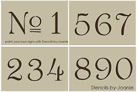 french old vintage style number stencil 3