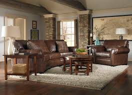 furniture awesome brown leather sofa by broyhill furniture on