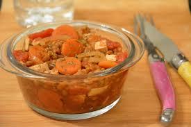 comment cuisiner des lentilles vertes mijoté de lentilles vertes et tofu à la tomate au fil du thym