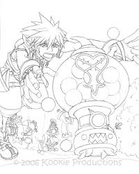 kingdom hearts coloring page stained glass this day aria line art