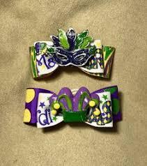 dog collar mardi gras chevron dog hair bow loop christmas dog bow peppermint green