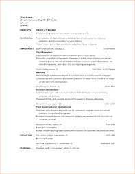 Resume Examples For No Experience Resume For Flight Attendant No Experience Free Resume Example