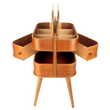 Portable Sewing Table by Danish Portable Sewing Box Side Table With Revolving Drawers At