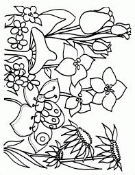 coloring pictures of flowers to print printable coloring pages spring flowers nice coloring flower pages