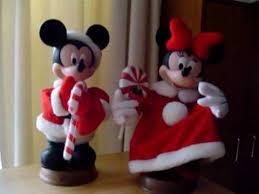 disney mickey minnie mouse animated christmas figures youtube