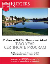 rutgers professional golf turf management grow your