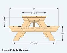 Free Woodworking Plans Folding Picnic Table by How To Build A Picnic Table With Attached Benches Picnic Tables
