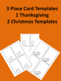 christmas place card template name writing activity
