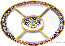 ceramic serving platters ceramic maiolica oval antipasto serving tray dish 37cm