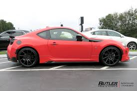 frs scion red scion frs with 19in savini bm15 wheels exclusively from butler