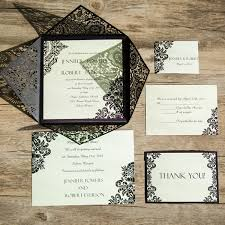 damask wedding invitations vintage black damask laser cut wedding invites ewws061 as low as